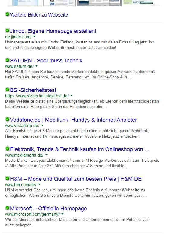 Google-SERP vom 17.03.2015