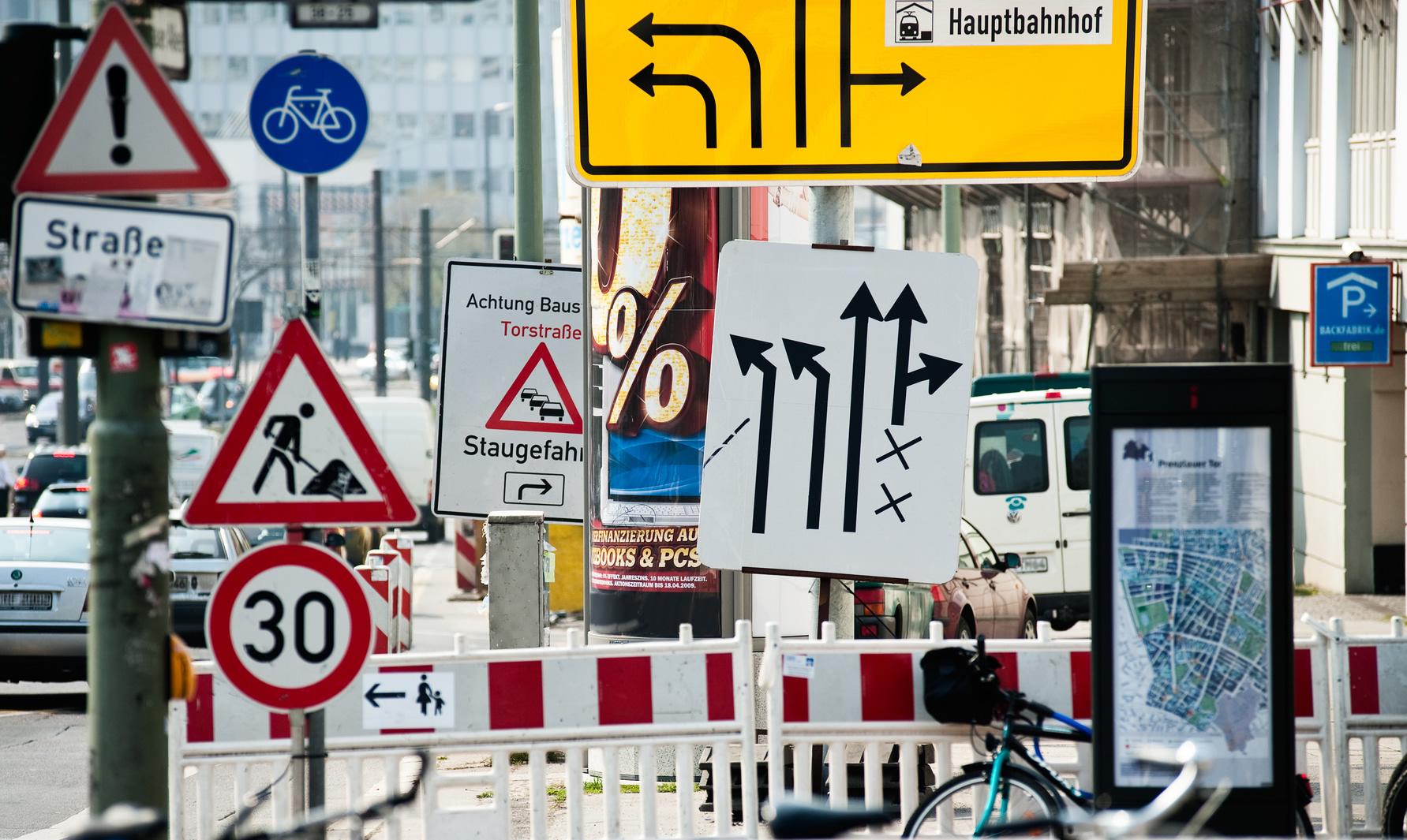 Da hat wohl jemand die Straßenverkehrsführung an seine Homepage angepasst